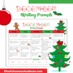 Free December Writing Prompts Calendar