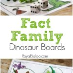 Free Dinosaur Themed Fact Family Mats