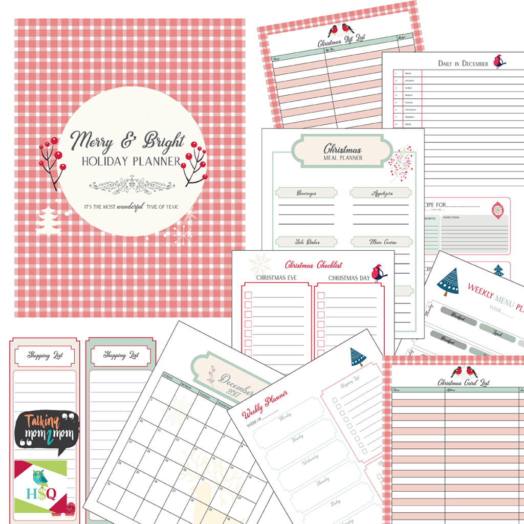 It's not too late to get organized for Christmas! Download this Merry & Bright Christmas Planner today! This pack includes a monthly planner, shopping list, meal planner, recipe cards, gift list, card list and more! :: www.thriftyhomeschoolers.com