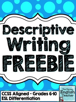 This descriptive writing FREEBIE is a sample of a larger Descriptive Writing Mini-Unit that includes two descriptive writing activities where writers are tasked with describing a specific image. :: www.thriftyhomeschoolers.com