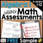 Free Algebra 1 Assessments