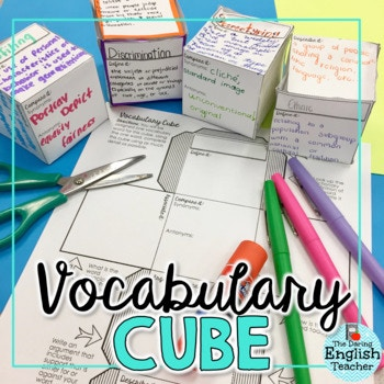 This vocabulary cube activity is a great way to introduce new words, ideas, and even a new unit of study to students. Students will thoroughly analyze a specified word six different ways.Perfect for 5th - 12th grade and works great with any subject! :: www.thriftyhomeschoolers.com
