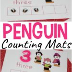 Free Five Christmas Penguin Counting Mats