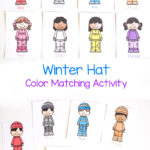 Free Winter Hat Color Matching Activity