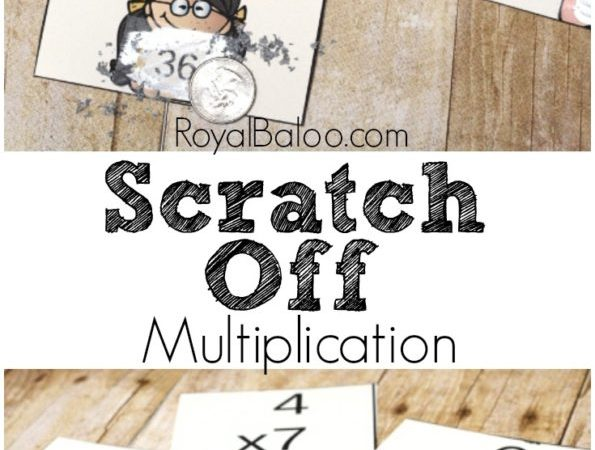 Free Scratch Off Multiplication Flashcards