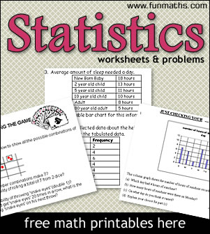 Free Statistics Worksheets & Problems for High Schoolers