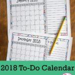 Free 2018 To-Do Calendar