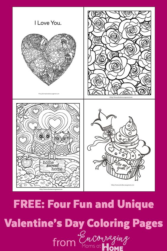 What would a holiday be without some fun coloring pages? These Free Valentine's Day themed Coloring Pages are the perfect addition to any party or fun day. :: www.thriftyhomeschoolers.com