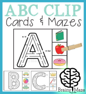Most of my children enjoy mazes, but I have one in particular who absolutelyloves them! Anytime I can find some mazes that combine fun and learning, like these ABC Clip Cards & Mazes, school seems to go that much smoother! :: www.thriftyhomeschoolers.com