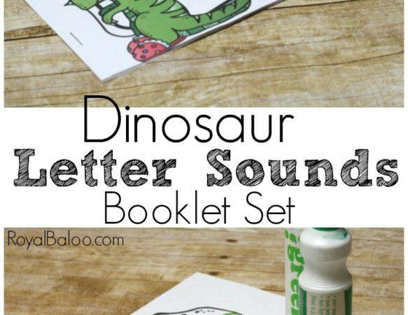 Free Dinosaur Letter Sounds Booklet