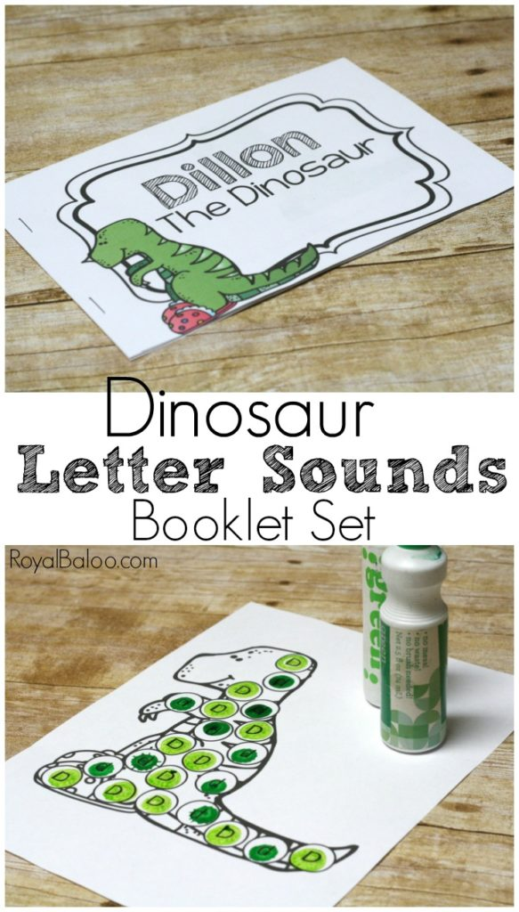 Whether you're learning the letter 'd' or your little one just loves dinosaurs, this Dinosaur Letter Sounds Booklet is a wonderful addition to your activities! :: www.thriftyhomeschoolers.com