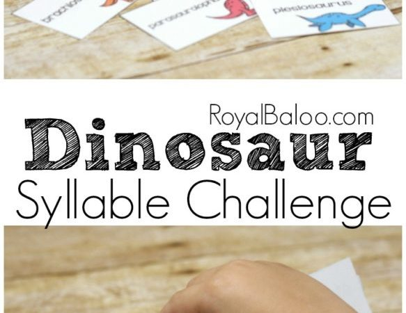 Free Dinosaur Syllable Challenge