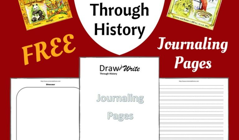Free Draw & Write Through History Journaling Pages