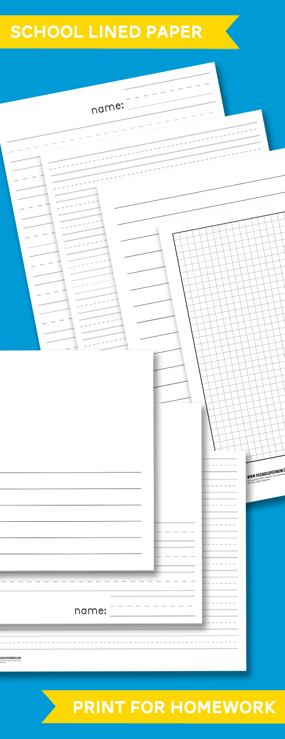 Don't you hate when your kids are in the middle of a project and you realize you're out of paper? Why not save these printable lined papers from Life of a Homeschool Mom so you'll have just what you need every time? :: www.thriftyhomeschoolers.com