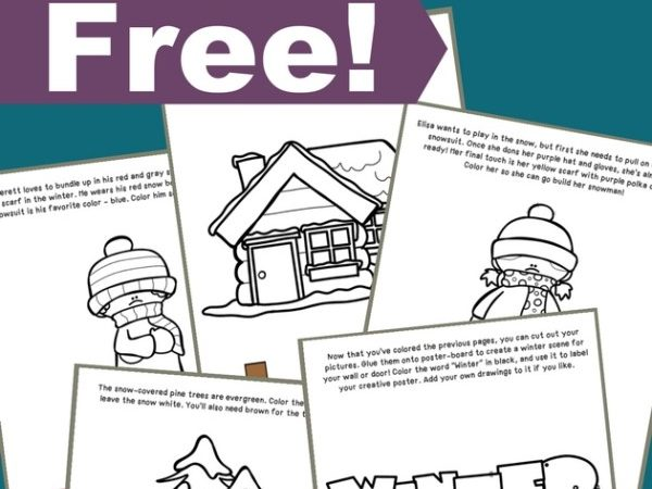 Free Winter Coloring and Activity Book