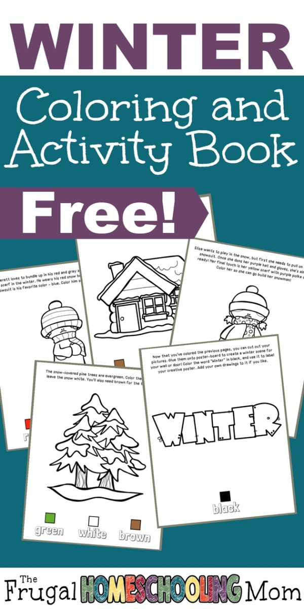 Coloring is a wonderful winter day activity. This printable Winter Coloring and Activity Book is a fun way for little ones to work on their coloring skills and color recognition. :: www.thriftyhomeschoolers.com