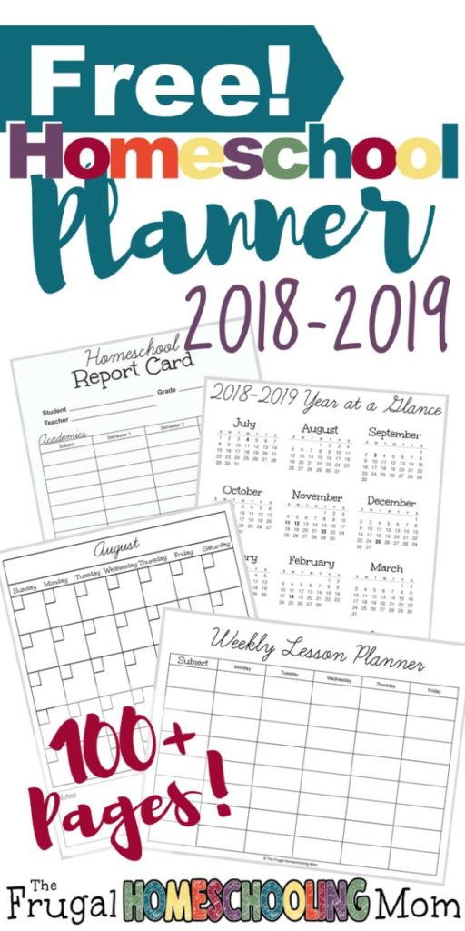 If you're looking for a new planner to help you organize and plan for the next year, this is it! Even though the calendar doesn't start until July, the monthly ones are undated, so you can use them now! :: www.thriftyhomeschoolers.com