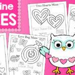 Free Valentine's Day Mazes