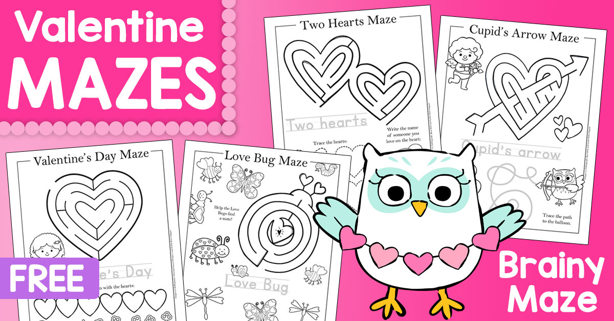 If your kids love mazes, these Valentine's Day themed ones are sure to be a hit! There are 5 different mazes in this set, each with a simple maze, fun handwriting practice and more. :: www.thriftyhomeschoolers.com