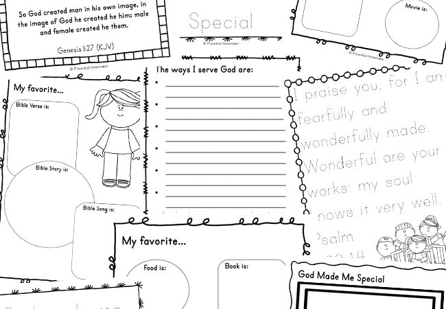 Free God Made Me Special Printable Pack