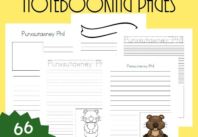 Free Groundhog Day Notebooking Pages
