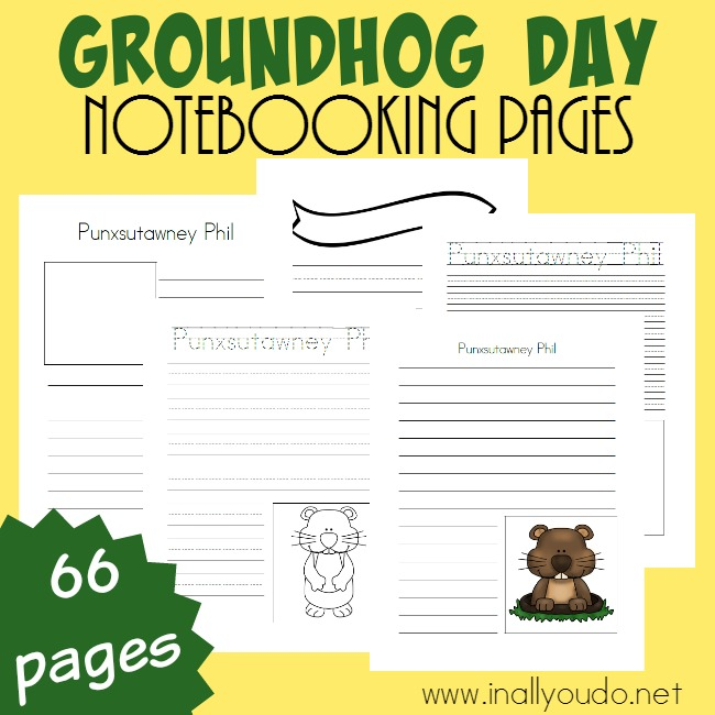 No matter if you wake up early or watch the re-run on Groundhog Day, your kids will have fun recording their predictions, history of Punxsutawny Phil and more with these Groundhog Day Notebooking Pages. :: www.thriftyhomeschoolers.com