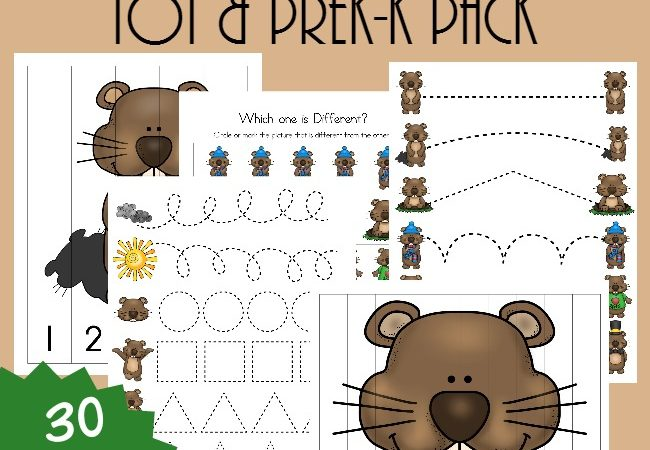 Free Groundhog Day Tot & PreK-K Pack