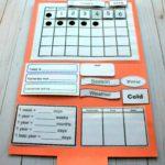 Free Preschool Calendar File Folder Printables