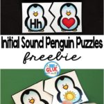 Free Initial Sounds Penguin Themed Puzzles