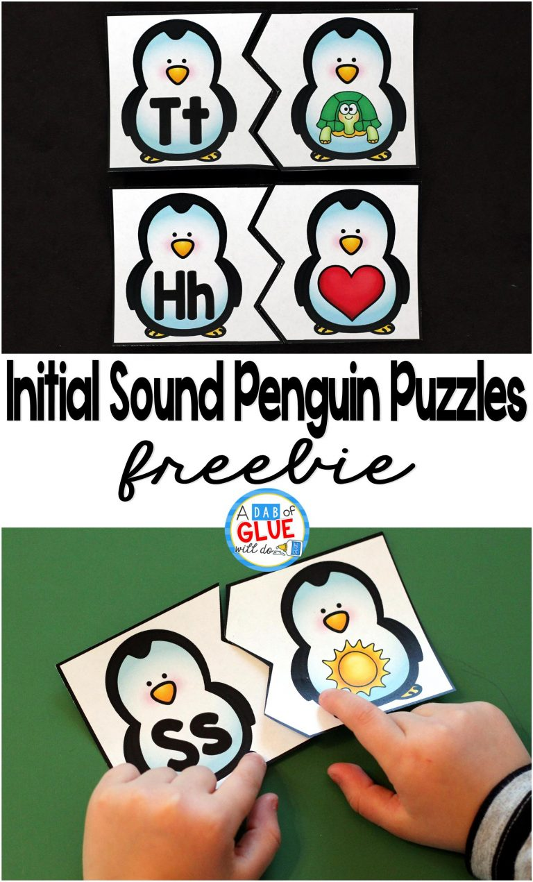 Matching cards and games are a fun way to help kids work on their skills. These initial sounds penguin themed puzzles are perfect for little ones. Add this activity to your winter or penguin unit studies to help emerging readers improve! :: www.thriftyhomeschoolers.com