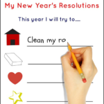 New Years Resolution Printable Freebie
