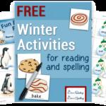 Winter Activities for Reading & Spelling Freebies