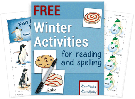 """Add some fun to winter reading and spelling lessonswith these three hands-on review activities suitable for all ages and levels. Your child will""""bake"""" yummy desserts,match up the pairs of rhyming polar bears andmake their very own 18-page penguin fact book. :: www.thriftyhomeschoolers.com"""