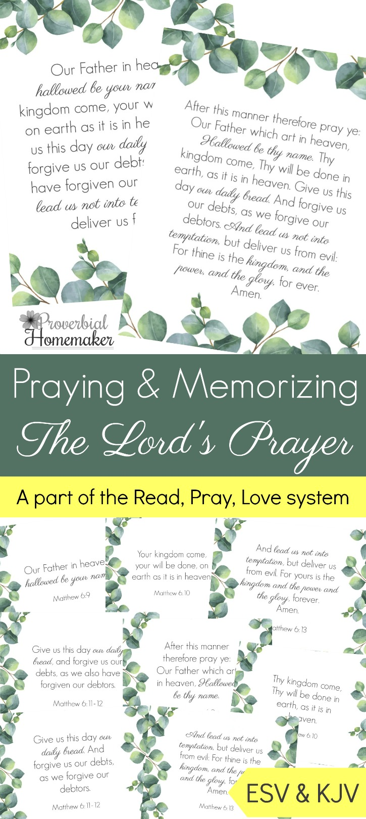 The Lord S Prayer Thrifty Homeschoolers