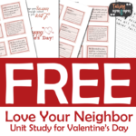 Love Your Neighbor Unit Study Freebie