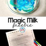 Free Magic Milk Experiment Printable