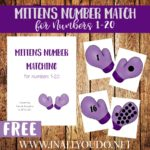 Free Mittens Number Matching Printables