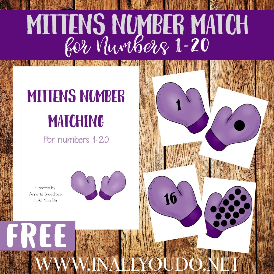 I don't know about your kids, but mine love mittens and gloves. I find them all over our house year round. With it being winter, these Mittens Number Matching Printables are perfect and cover number 1-20. :: www.thriftyhomeschoolers.com