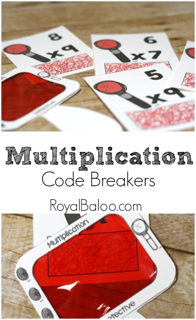 Do your kids love pretending to be spies? Mine sure do and code breaking is Spy 101, according to them. These super fun Multiplication Code Breaker printables will make learning their math facts fun! :: www.thriftyhomeschoolers.com