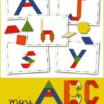 Free Mini ABC Pattern Block Cards