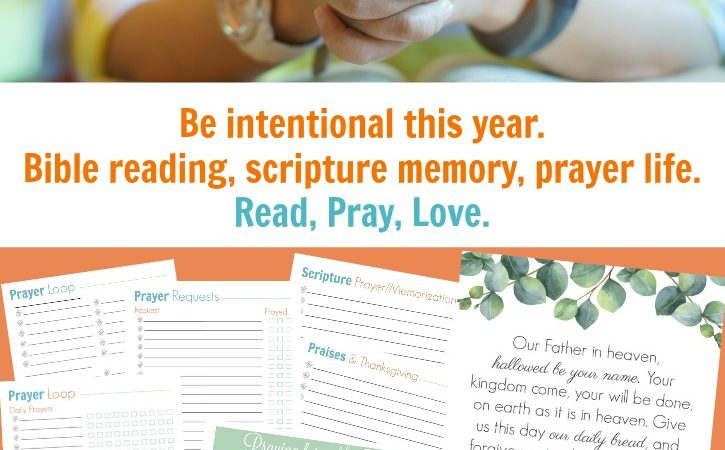 New Read, Pray, Love Scripture Printables for 2018