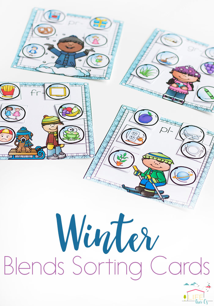 Learning the different blends can be tricky for some kids. Playing games or using other activities to help is a fun way to work on them. These Winter themed Blends Sorting Cards are perfect for this time of year! :: www.thriftyhomeschoolers.com