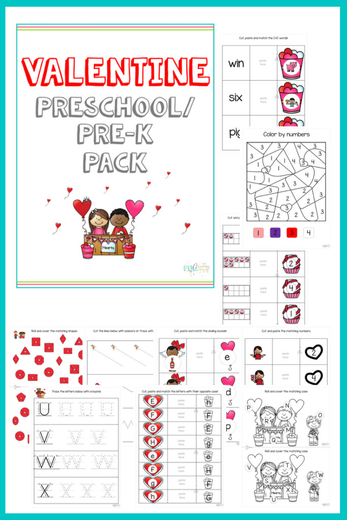 Looking for a fun Valentine's printable to share with your preschool and prek kiddos? This fun pack is crammed full of activities perfect to celebrate the day (or week). Get it FREE for a Limited Time thru Thurs, Jan 11, 2018!! :: www.thriftyhomeschoolers.com
