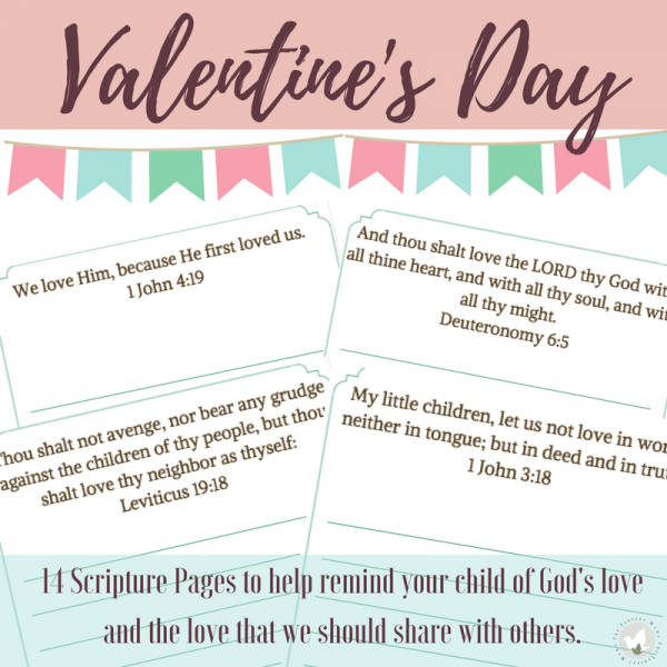 Whether you include Bible in your daily homeschool routine or not, these Valentine's Day Scripture Copywork pages are perfect to add in this February! :: www.thriftyhomeschoolers.com
