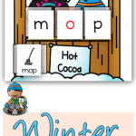 Free Winter CVC Word Mats