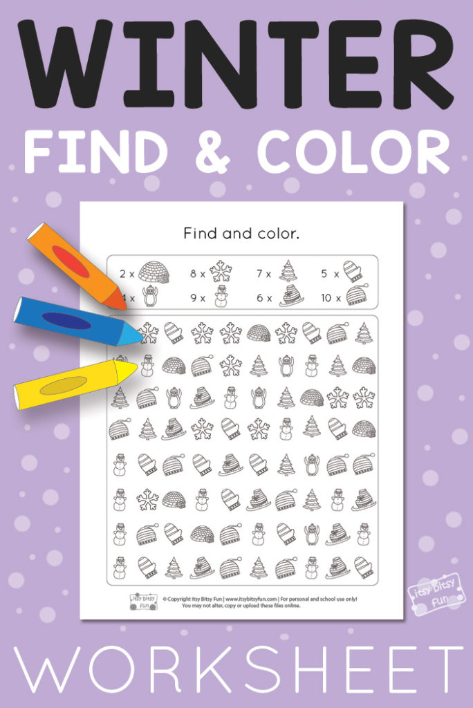 I love having find and color worksheets for little ones. They are a great way to help kids learn to see the differences in objects as well as work on their counting! :: www.thriftyhomeschoolers.com