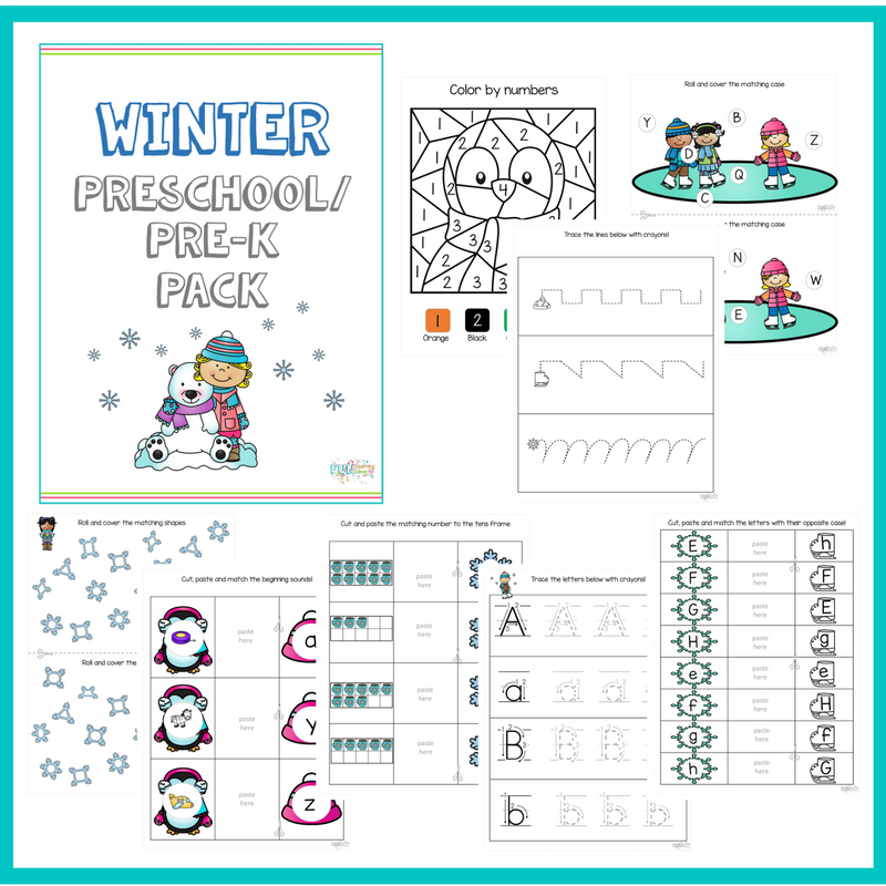 This hands-on downloadable workbook from Fun Learning Ideas, is designed to help anyone teach their preschoolers (and pre-k students) this winter. Using fun and creative methods of learning little ones will learn their upper & lower case letters, beginning sounds, numbers and more! :: www.thriftyhomeschoolers.com