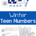 Free Winter Counting Cards for Teen Numbers