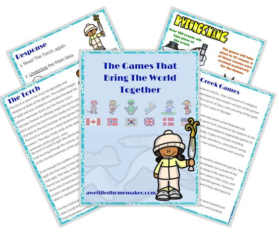 Learn about South Korea, the city of PyeongChang and more with this free printable pack about the 2018 Winter Games. :: www.thriftyhomeschoolers.com