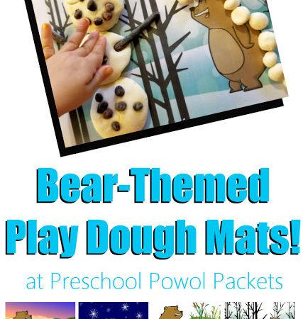 Free Bear Themed Playdough Mats